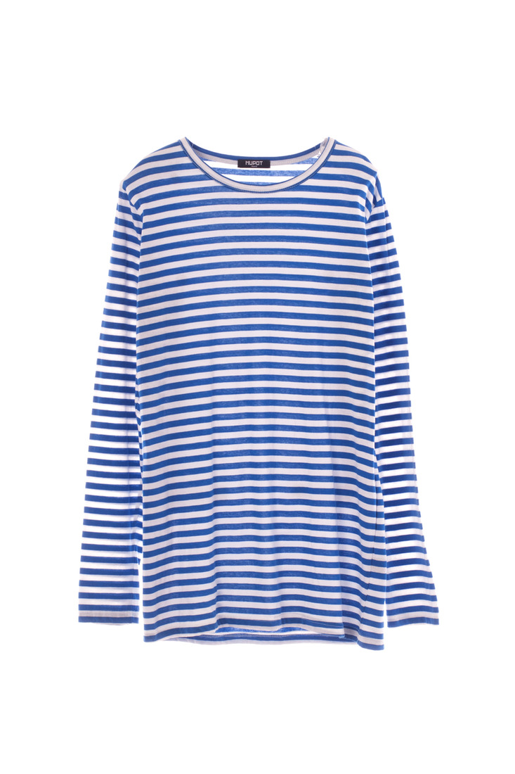SS17 LONG SLEEVE STRIPE TSHIRT BLUE