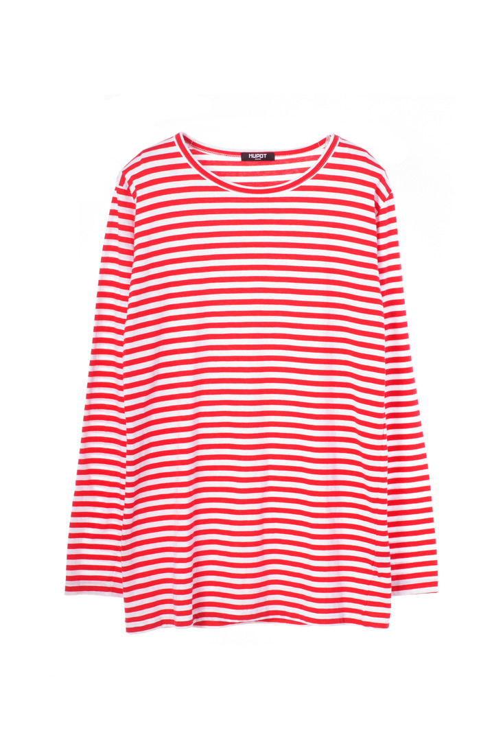 SS17 LONG SLEEVE STRIPE TSHIRT RED