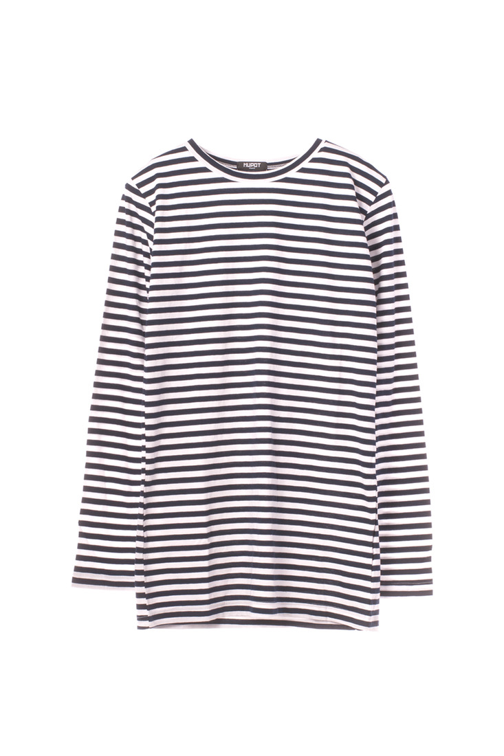 SS17 LONG SLEEVE STRIPE TSHIRT BLACK