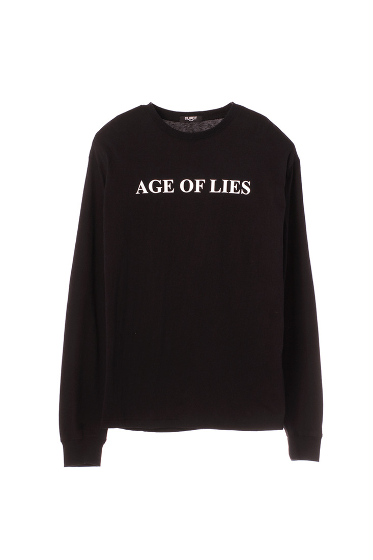 SS17 AGE OF LIES LONG SLEEVE TSHIRT BLACK