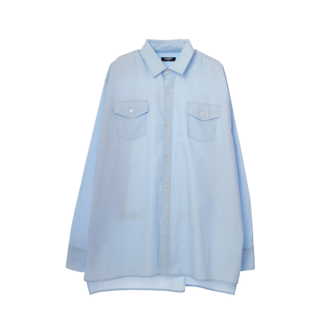 LONG SLEEVE BIG SHIRT LIGHT BLUE